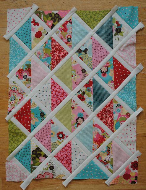 Charm square baby quilt  #modabakeshop #modafabrics #lovepinwin