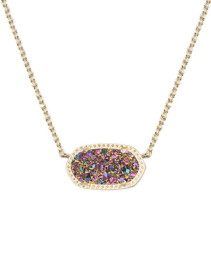 Elisa Pendant Necklace in Multi-Color Drusy - Kendra Scott Jewelry