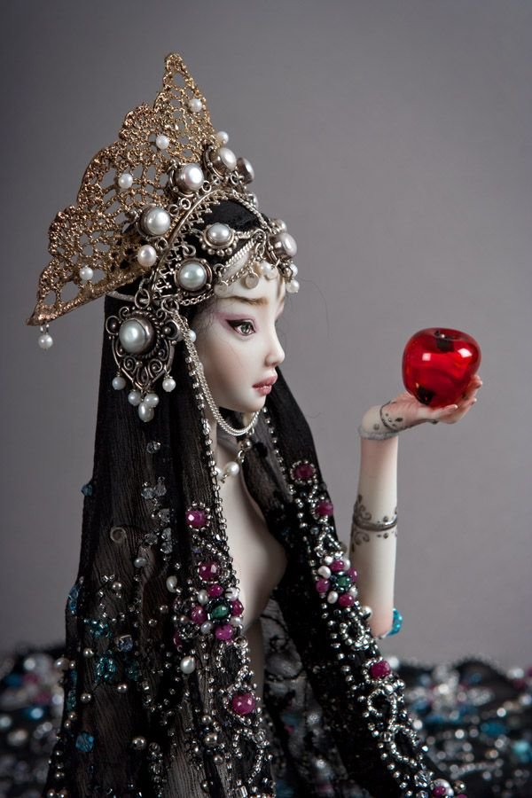 Stepmother  Enchanted Doll by Marina Bychova  Handmade, handpainted, one of a kind porcelain ball jointed dolls.