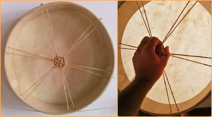 Shamanic drum, made by Zoltan Feher
