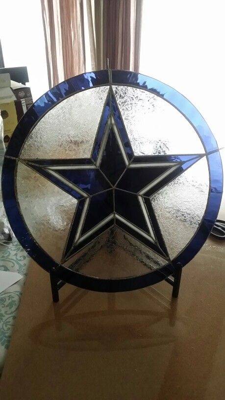 Dallas Cowboys .. Fun To Do..Stain Glass Made By Tom Colley