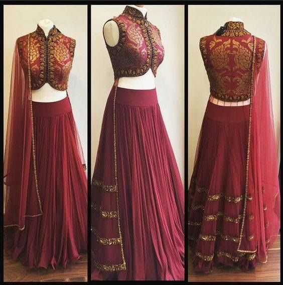 Lovely attire crafted in Brocade, Georgette and Premium Net accentuated beautifully with intricate hand embroidery of equins and dabk