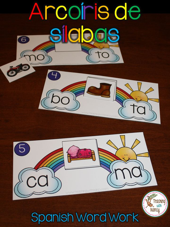 Spanish word work: This idea is perfect for students that are beginning to read and combine 2 Spanish syllables into words.