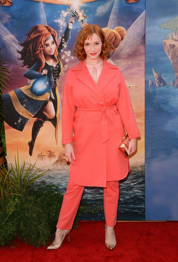 Christina Hendricks in Max Mara at the premiere of The Pirate Fairy.