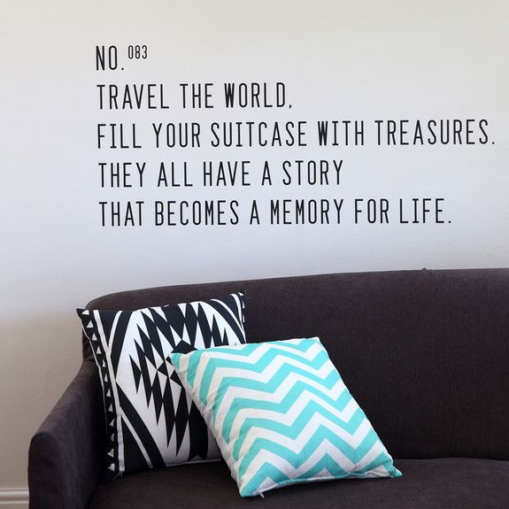 Superbalist Wall Decals - Travel the World Wall Decal