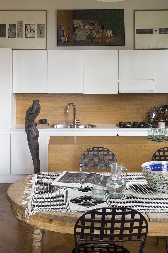 modern kitchen oak