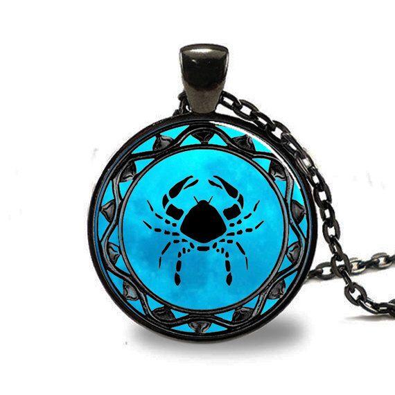 Cancer Zodiac Pendant, Cancer Zodiac Necklace, Cancer Zodiac Jewelry, Black (PD0319) by wizardofcharms on Etsy https://www.etsy.com/listing/169878117/cancer-zodiac-pendant-cancer-zodiac