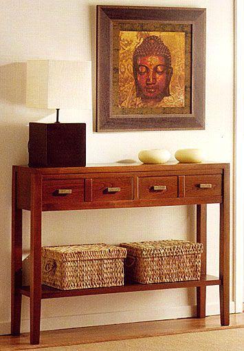 Existe la posiilidad de realizar el mueble en diferente color de acabado, ver imagen de galeria Consola,Senegal,blanco,Coloniales,Muebles,nogal,patinado... Desde Eur:662 / $880.46