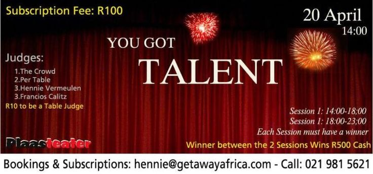 You Got Talent, Cape Town Musician, Solo, Duet Artists & Bands Challenge - 20 April at Plaasteater   Brackenfell   Gumtree South Africa   11...