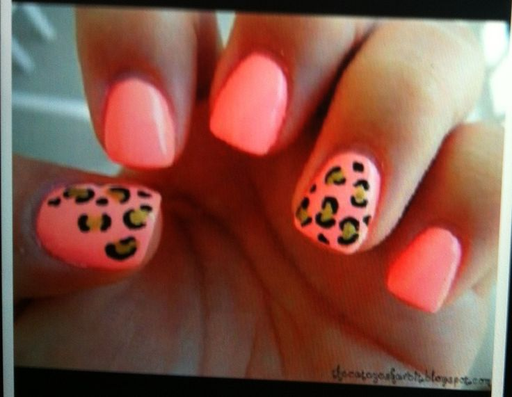 cheetah print nail design nails pinterest cheetah