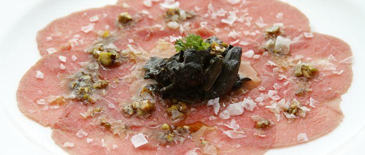 Un carpaccio para chuparse los dedos http://restauranteeustaquio.es/ #Restaurante #EustaquioBlanco