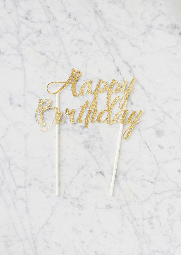 Creative cake toppers are all the rage on Pinterest, and they're not just for wedding cakes anymore. Now you can take your birthday cakes to the next level with this handmade glitter cake topper, made from sparkly card stock. Say goodbye to boring cake! See more at redvelvetnyc.com