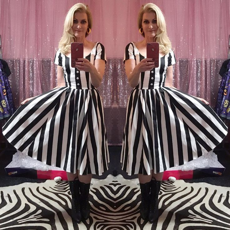"""355 Likes, 27 Comments - 🌷Teri 🌷 (@vintage_grandma61) on Instagram: """"I love playing dress-up at @pinupgirlboutique This dress has some serious """"Beetlejuice!…"""""""