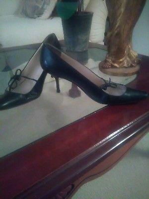 Authentic Christian Louboutins vintage black calf leather sz37