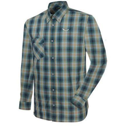 Chemise Salewa Fanes Check Vert - La chemise Fanes à carreaux est une chemise fonctionnelle à manches longues conçu pour offrir confort et gestion de l'humidité pour la randonnée, le trekking et les voyages dans les montagnes.  - Disponible dans la Cottay Shop, le professionnel de la montagne depuis plus de 10 ans !
