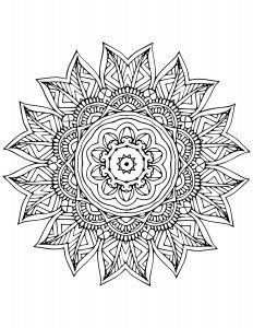 Kostenloses Ausmalbild Indisches Mandala 20   Viele kosenlose Ausmalbilder und Mandala zum Ausdrucken www.mandala-malen.net