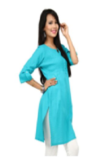 Look trendy and stylish in this vibrant kurti . It has pintucks on the yoke and beautiful check fabric at the bottom Add some ethnic jewellery and strappy sandals for a complete look.....visit: http://www.seveneast.in/index.php?route=product/product&path=80&product_id=105