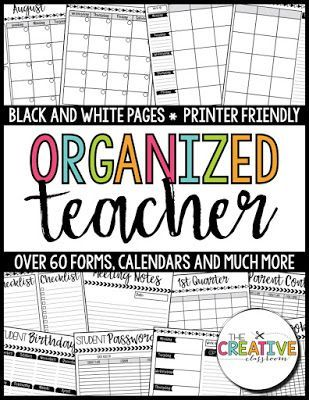 Be an organized teacher this year with the best lesson planner and teacher binder tips. This EDITABLE teacher binder is a great organization tool for any elementary teacher.