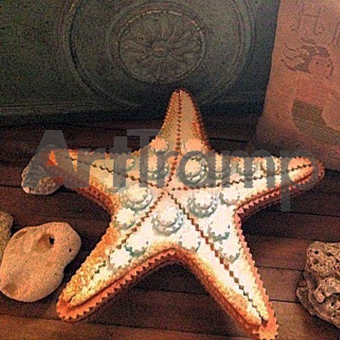 """""""Starfish"""" ~ Tramp Art Box. Original design by David A. Schump a.k.a. The Art Tramp ©2013-2017"""