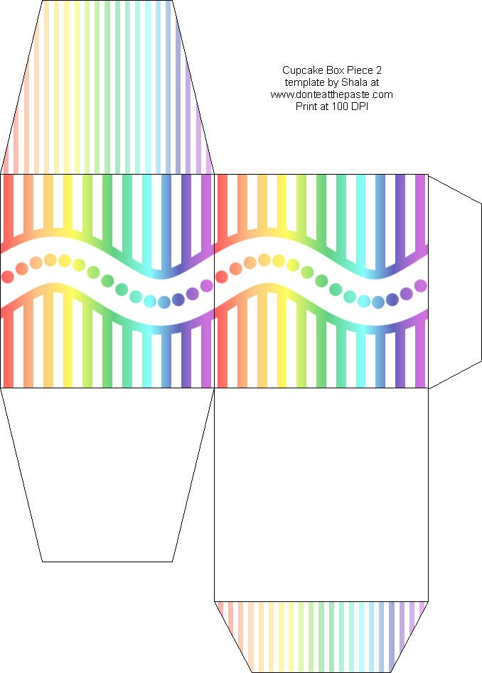 Rainbow Template Printable  BesikEightyCo