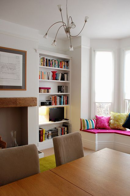 Lovely clean lines- Fitted Bookcases by Claire Sutton, via Flickr
