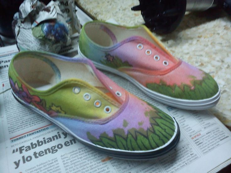Zapatillas originales pintadas en 10 pasos - Ábdol