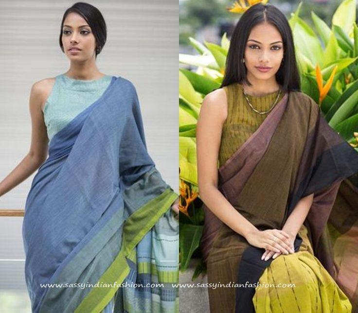 Sleeveless Saree Jacket Blouse Patterns