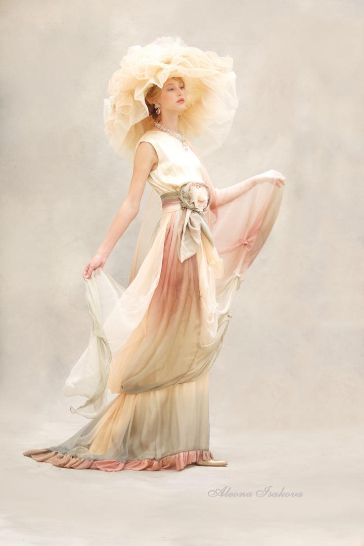 Dress Ecru rose by Aleona Isakova, Haute Couture Collection Garden of Eden