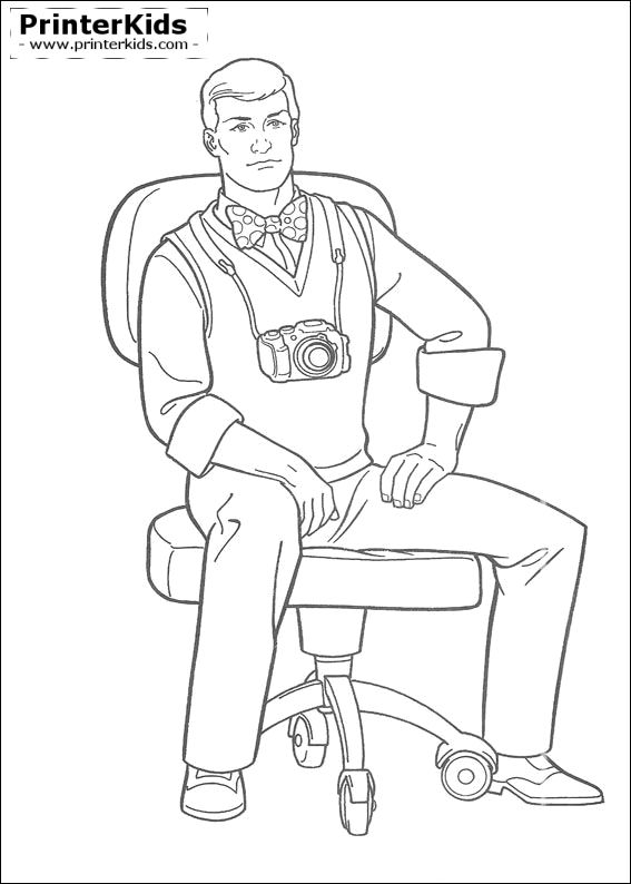 photographer printable superman coloring pages - Superman Pictures To Colour