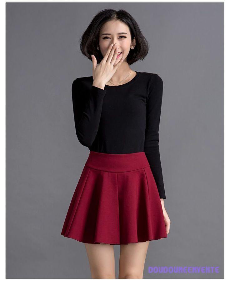 les 25 meilleures id es de la cat gorie mini jupe rouge sur pinterest style de mini jupe. Black Bedroom Furniture Sets. Home Design Ideas