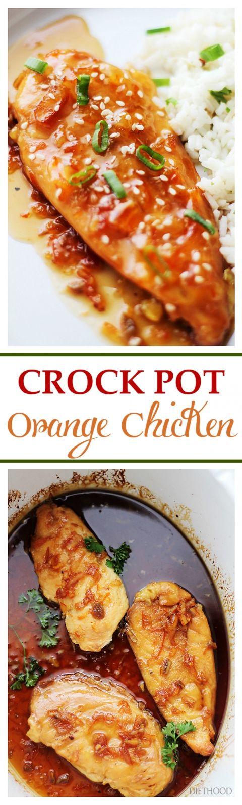Crock Pot Orange Chicken Recipe | Diethood