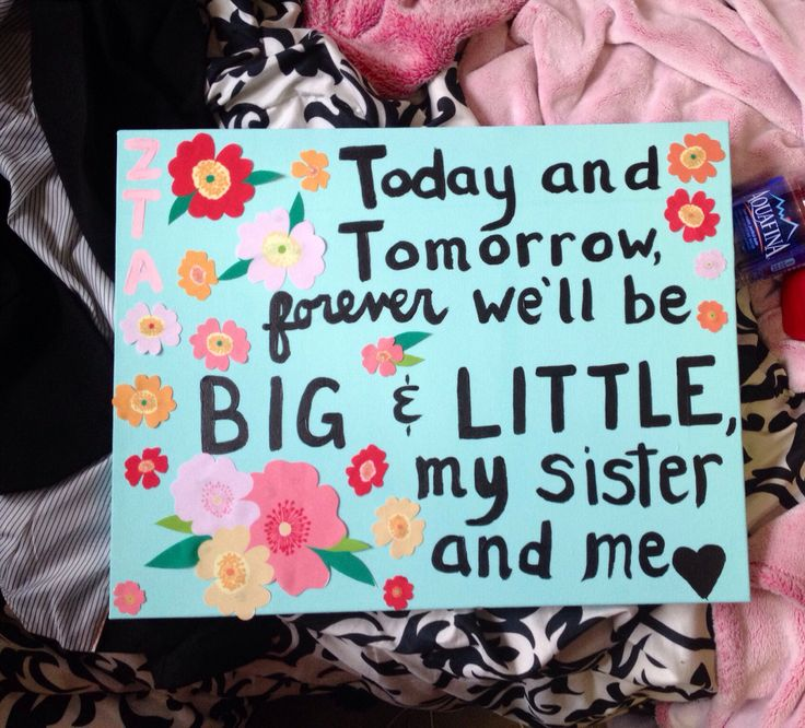 Maybe a saying for Big/Little reveal shirts??