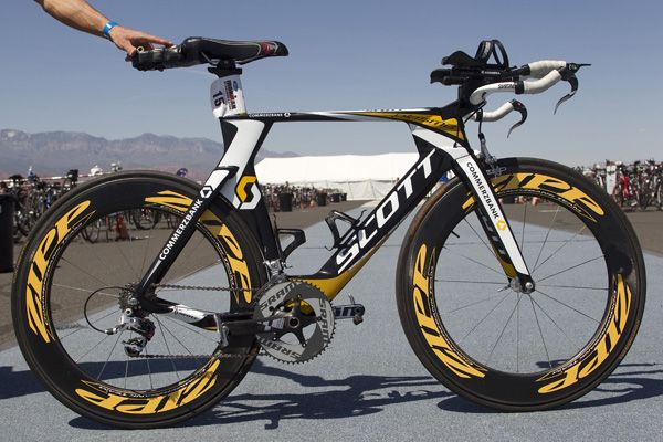 Photo Gallery: Bikes of Ironman St. George, Utah Finish line just two blocks from Best Western Coral Hills