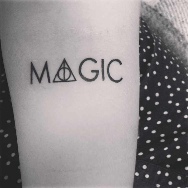Harry Potter tattoo. Deathly hallows.
