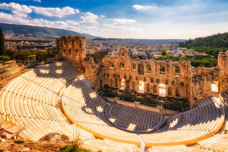 When climbing the Acropolis of Athens, it's not just the top of the hill that matters. Especially since it's in such good shape, I loved seeing the Odeon of Herodes Atticus built in 161 AD! Wouldn't you like to watch a play here? 😊