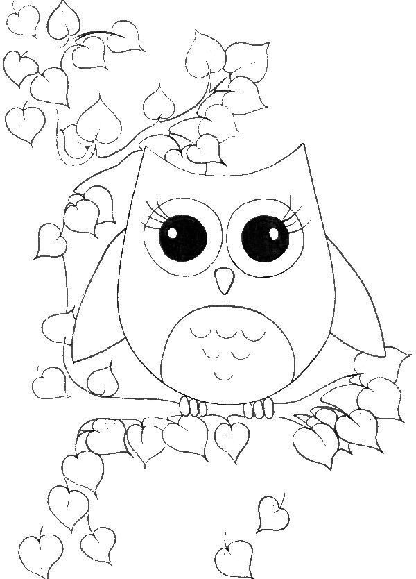 Beautiful Owl Child Coloring Pages