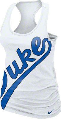 Duke Blue Devils Women's White Nike Boyfriend Tank Top
