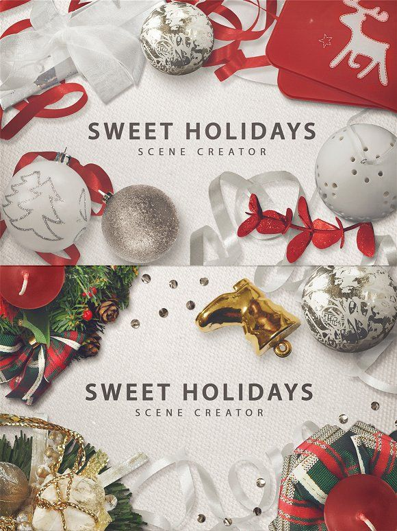 Sweet Holidays | SCENE CREATOR | by Pink Coffie on @creativemarket
