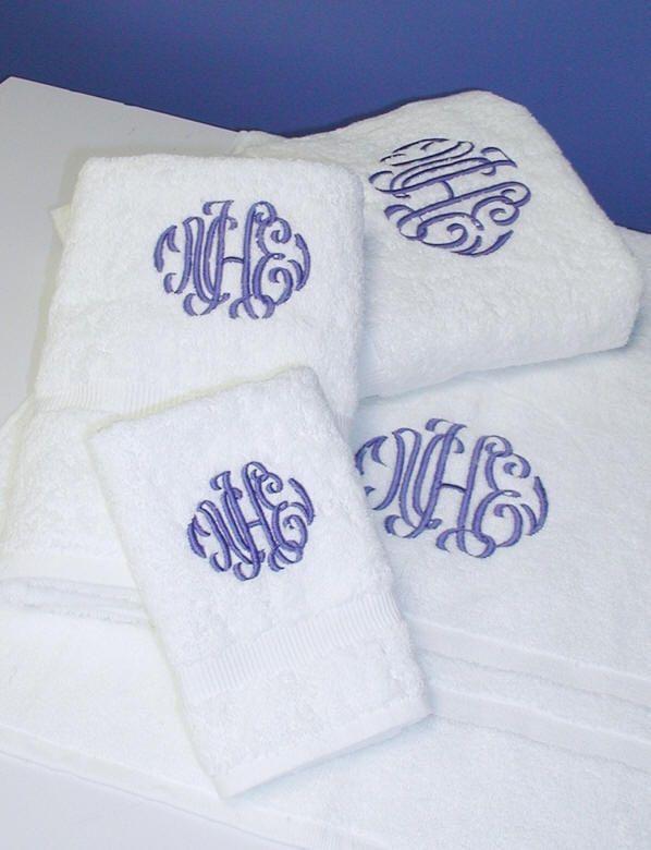 Monogrammed towels make a great engagement gift or wedding favor!