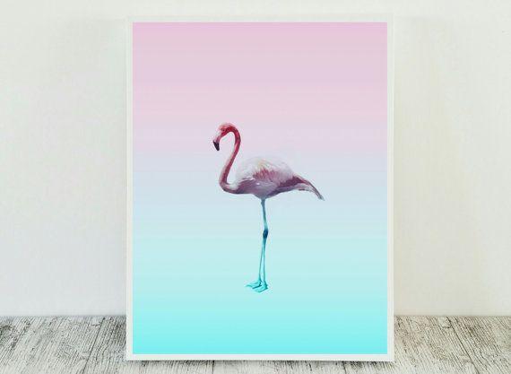 Flamingo Print tropische Wall Art Flamingo Art door CristylClear