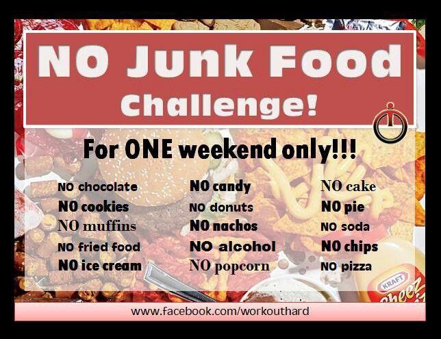 No junk food challenge