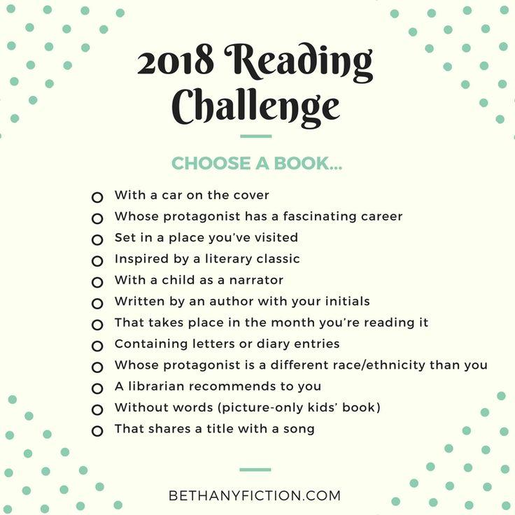 Bethany House's 2018 Reading Challenge | Bethany House Fiction