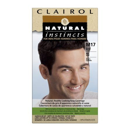 Clairol Natural Instincts Hair Color for Men, M17 Brown, Black, 1 Kit