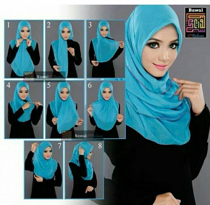 Elegant and simple hijabstyle