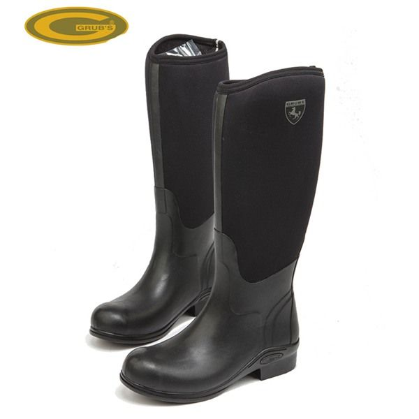 Grubs Rideline 5.0 Horse Riding Boots in Black are tough boots perfect for the stables.