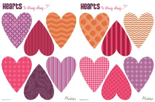 heart printable template for valentine s day valentines day ideas