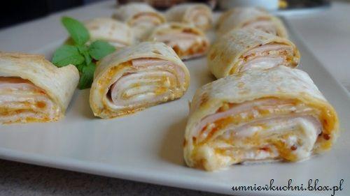 Rollsy z serem i szynką czyli szybka przekąska a`la Pizza Hut