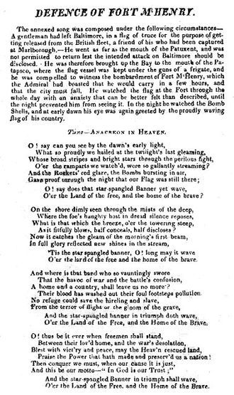 March 3,1931 – The United States adopts The Star-Spangled Banner as its national anthem.