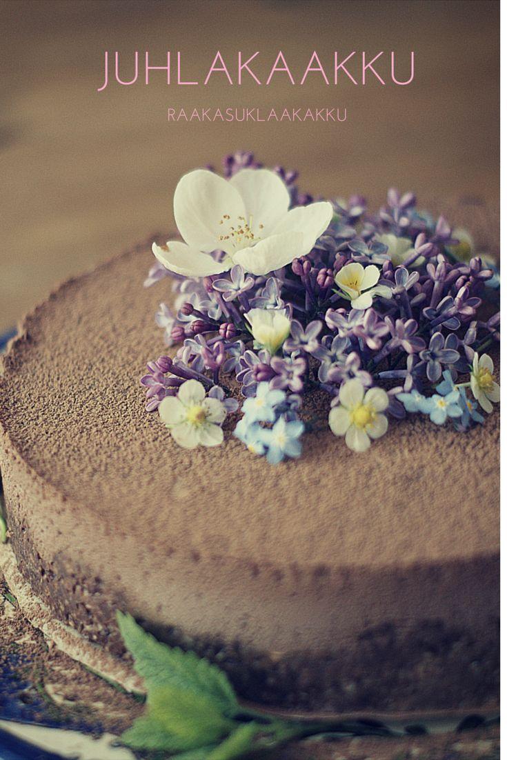 Helppo ja täyteläisen suklainen raakakakku