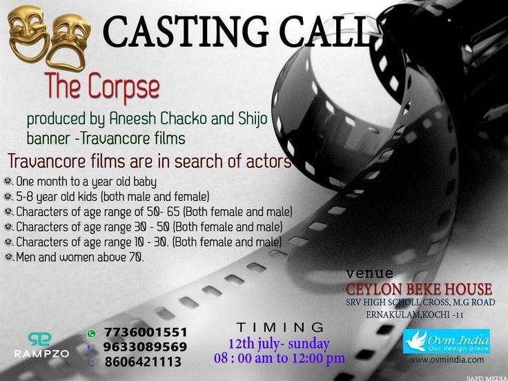 Travancore films are in search of actors Safd Media